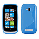 Custodia Nokia Lumia 610 S-Line Silicone Bumper - Luce Blu
