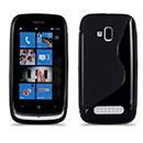 Custodia Nokia Lumia 610 S-Line Silicone Bumper - Nero