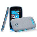 Custodia Nokia Lumia 610 Sabbie Mobili Cover Bumper - Grigio
