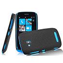 Custodia Nokia Lumia 610 Sabbie Mobili Cover Bumper - Nero