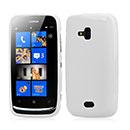 Custodia Nokia Lumia 610 Silicone Case - Bianco