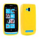 Custodia Nokia Lumia 610 Silicone Case - Giallo