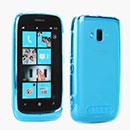 Custodia Nokia Lumia 610 Silicone Trasparente Case - Blu