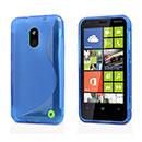 Custodia Nokia Lumia 620 S-Line Silicone Bumper - Luce Blu