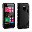 Custodia Nokia Lumia 620 S-Line Silicone Bumper - Nero