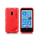 Custodia Nokia Lumia 620 S-Line Silicone Bumper - Rosso