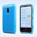 Custodia Nokia Lumia 620 Silicone Bumper - Blu