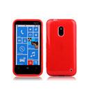 Custodia Nokia Lumia 620 Silicone Bumper - Rosso