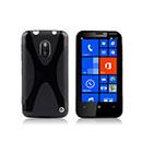 Custodia Nokia Lumia 620 X-Line Silicone Bumper - Nero