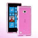 Custodia Nokia Lumia 720 Silicone Trasparente Case - Rosa