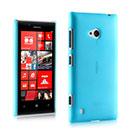 Custodia Nokia Lumia 720 Ultrasottile Plastica Cover Rigida Guscio - Blu