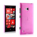 Custodia Nokia Lumia 720 Ultrasottile Plastica Cover Rigida Guscio - Rosa