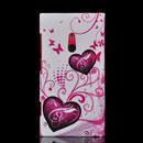 Custodia Nokia Lumia 800 Amore Silicone Case Astuccio - Porpora