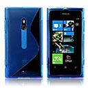 Custodia Nokia Lumia 800 S-Line Silicone Bumper - Blu