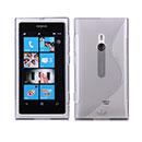 Custodia Nokia Lumia 800 S-Line Silicone Bumper - Grigio
