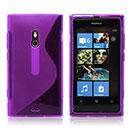 Custodia Nokia Lumia 800 S-Line Silicone Bumper - Porpora