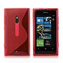 Custodia Nokia Lumia 800 S-Line Silicone Bumper - Rosso