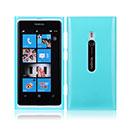 Custodia Nokia Lumia 800 Silicone Case - Luce Blu