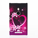 Custodia Nokia Lumia 925 Amore Plastica Cover Rigida - Porpora