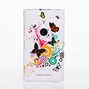 Custodia Nokia Lumia 925 Farfalla Plastica Cover Rigida - Misto