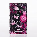 Custodia Nokia Lumia 925 Farfalla Plastica Cover Rigida - Nero