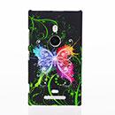 Custodia Nokia Lumia 925 Farfalla Plastica Cover Rigida - Verde