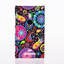 Custodia Nokia Lumia 925 Fiori Plastica Cover Rigida - Misto