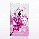 Custodia Nokia Lumia 925 Fiori Plastica Cover Rigida - Rosa