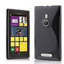 Custodia Nokia Lumia 925 S-Line Silicone Bumper - Nero