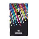 Custodia Nokia Lumia 925 Stars Plastica Cover Rigida - Nero