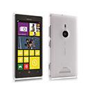 Custodia Nokia Lumia 925 Trasparente Plastica Cover Rigida Guscio - Bianco