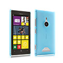 Custodia Nokia Lumia 925 Trasparente Plastica Cover Rigida Guscio - Blu