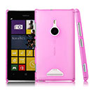 Custodia Nokia Lumia 925 Trasparente Plastica Cover Rigida Guscio - Rosa