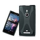 Custodia Nokia Lumia 925 X-Line Silicone Bumper - Fucsia