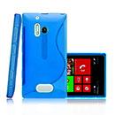 Custodia Nokia Lumia 928 S-Line Silicone Bumper - Blu