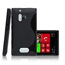 Custodia Nokia Lumia 928 S-Line Silicone Bumper - Nero