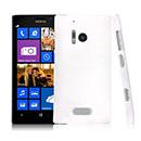 Custodia Nokia Lumia 928 Trasparente Plastica Cover Rigida Guscio - Bianco