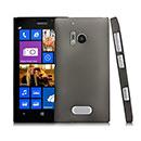Custodia Nokia Lumia 928 Trasparente Plastica Cover Rigida Guscio - Grigio