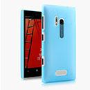 Custodia Nokia Lumia 928 Trasparente Plastica Cover Rigida Guscio - Luce Blu
