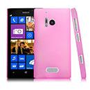 Custodia Nokia Lumia 928 Trasparente Plastica Cover Rigida Guscio - Rosa