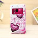 Custodia Nokia N8 Amore Silicone Case Astuccio - Porpora