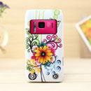 Custodia Nokia N8 Fiori Silicone Gel Case - Giallo