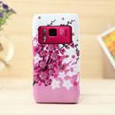 Custodia Nokia N8 Fiori Silicone Gel Case - Rosa