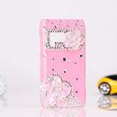 Custodia Nokia N8 Lusso Fiori Diamante Bling Cover Rigida - Rosa