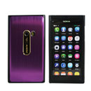 Custodia Nokia N9 Alluminio Metal Plated Cover Rigida - Porpora