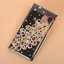 Custodia Nokia N9 Pavone Diamante Bling Cover Rigida - Brown