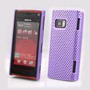 Custodia Nokia X6 Rete Cover Rigida Guscio - Porpora