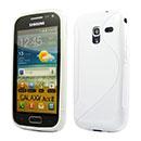 Custodia Samsung Galaxy Ace 2 i8160 S-Line Silicone Bumper - Bianco