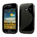 Custodia Samsung Galaxy Ace 2 i8160 S-Line Silicone Bumper - Nero