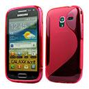 Custodia Samsung Galaxy Ace 2 i8160 S-Line Silicone Bumper - Rosso